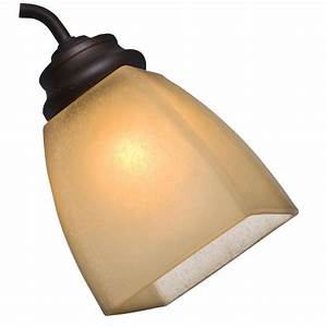 Ceiling fan light shades replacement : Casablanca in osted amber speckle sided square