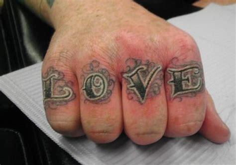 word tattoos  fingers