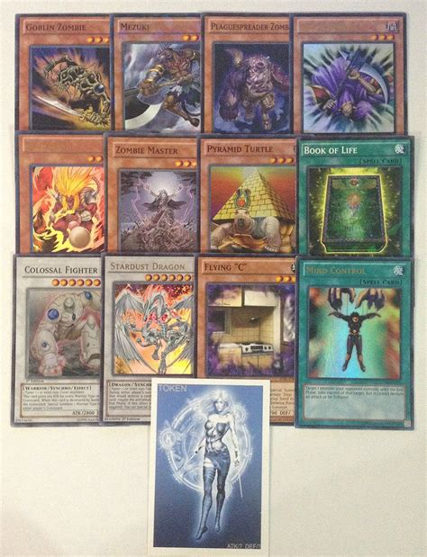 Yugioh Tournament Ready Zombie Deck With Complete Extra