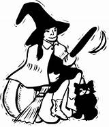Witch Halloween Clipart Witches Cat Hag Broom Clip Domain Svg Evil Broomstick Holiday Cliparts Wpclipart Library Worksheets Stick Outline Spelling sketch template