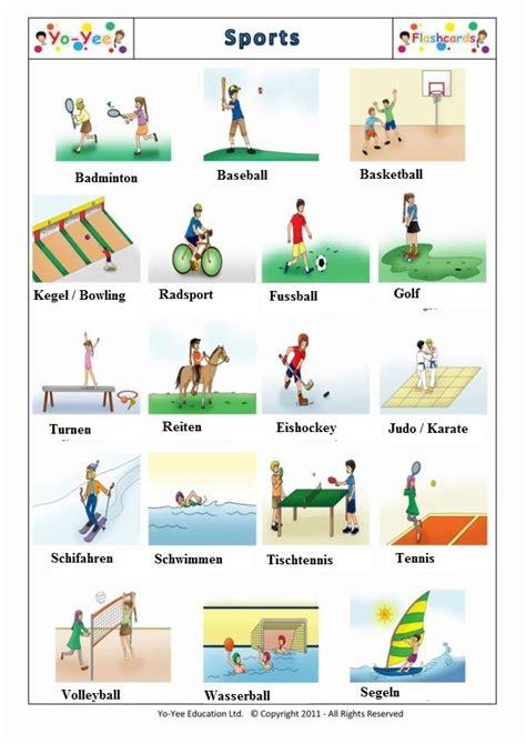 el aleman  es dificil vocabulario deportes sporten