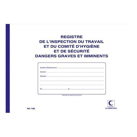 registre du travail modele elve registre inspection du travail et comit 233 d hygi 232 ne et