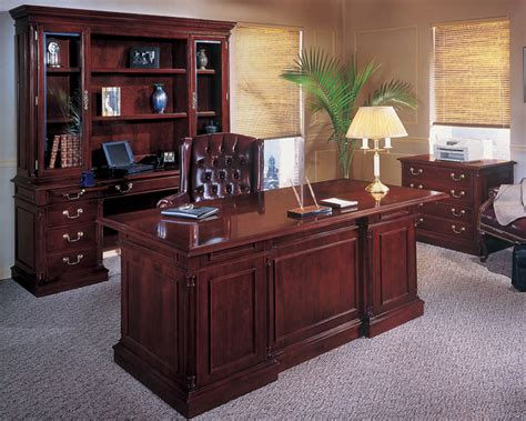 traditional office desks exquisite genuine wood detailing
