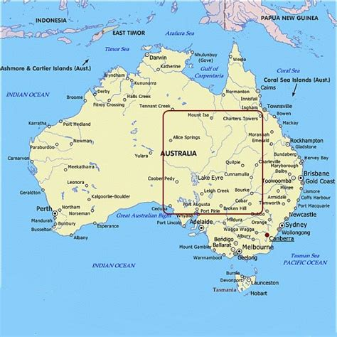 Australia Map Geography Pictures
