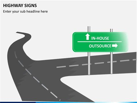 highway signs powerpoint sketchbubble