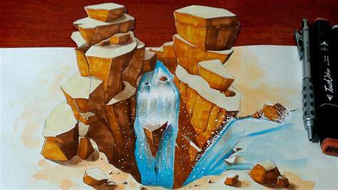 drawing   waterfall  art youtube
