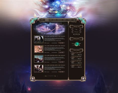 website templates fantasy perfect fantasy web template