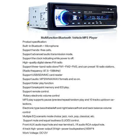Bluetooth Car Stereo Radio Din Dash Handsfree