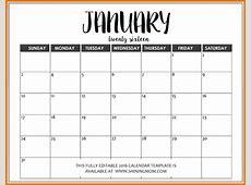 Free Fillable Calendar Template Templates Data