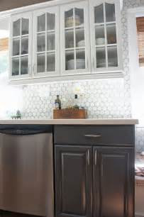 white kitchen tile backsplash remodelaholic gray and white kitchen makeover with hexagon tile backsplash