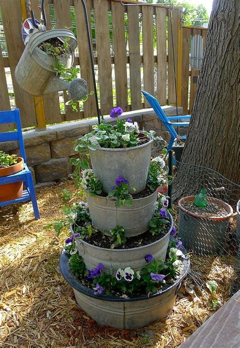 15 cool diy flower tower ideas page 3 of 3