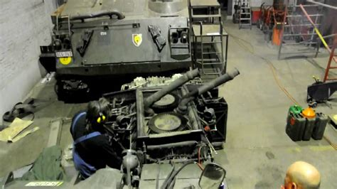 moteur de char patton  ere mise en marche apres