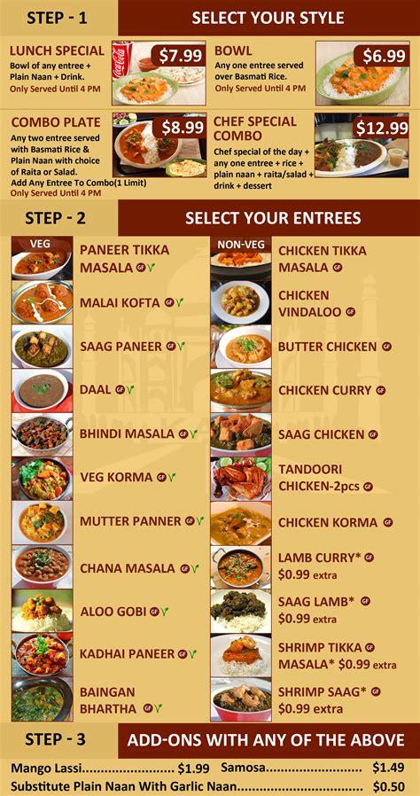 cuisine menu indian fast food restaurant design