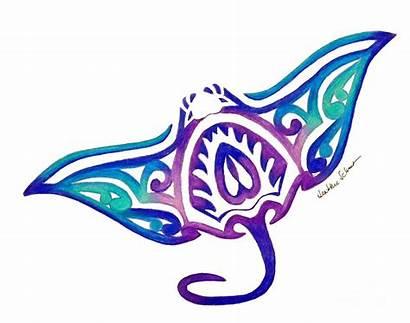 Stingray Manta Ray Tribal Tattoo Moana Clipart