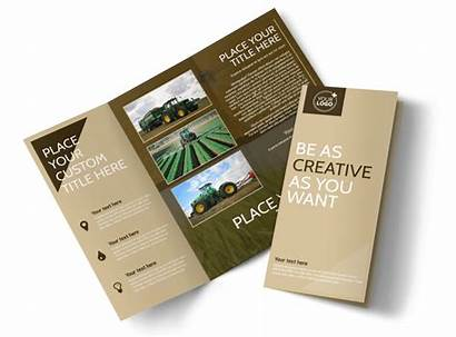 Brochure Agriculture Consulting Template Templates Fold Brochures