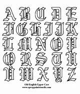 English Alphabet Calligraphy Tattoo Coloring Letter Fonts Lettering Letters Traceable Pages Tracing Tattoos Stencil Block Script Styles sketch template