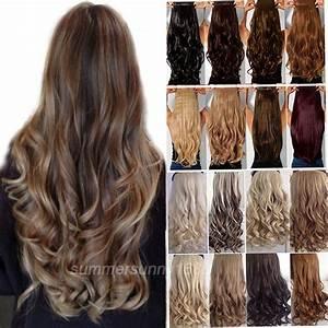 100 Real Soft Long StraightCurlyWavy Clip In Hair