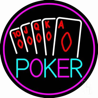 Poker Neon Sign Cards Signs Led