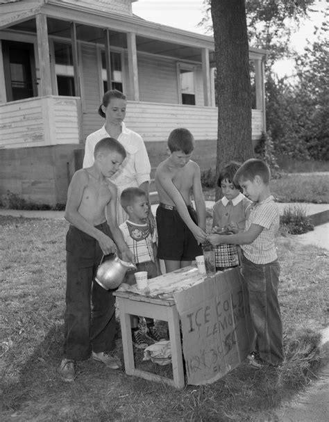 children sell lemonade   stand  pleasant street  attleboro  july   images