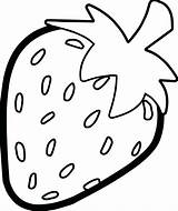 Strawberry Colouring sketch template