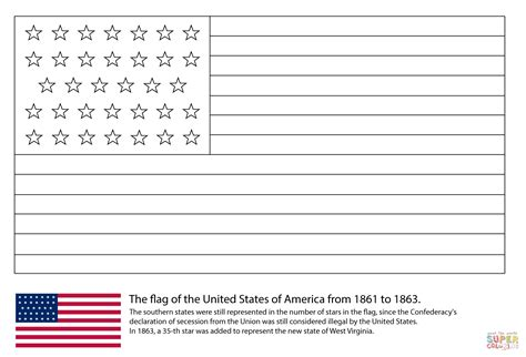 flag   stars   coloring page