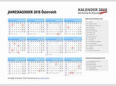 KALENDER 2018 Österreich