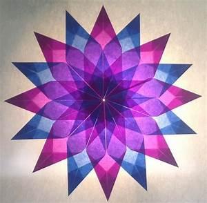 Sterne Aus Butterbrottüten Basteln : blau lila stern 16 zacken sterne aus transparentpapier sterne basteln basteln ~ Watch28wear.com Haus und Dekorationen