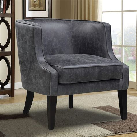 pri black leather arm chair ds 2521 900 388 the home depot