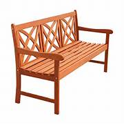 Coral Coast Amherst Curved Back Outdoor Wood Garden Bench  Natural  Outdoor