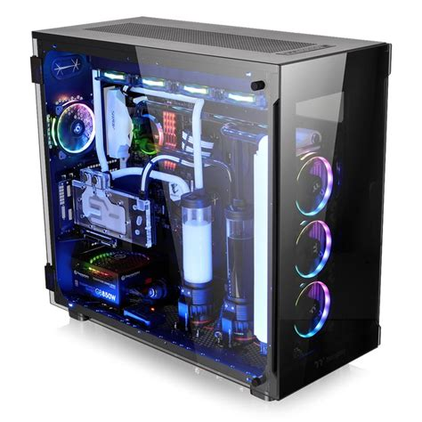 thermaltake view 91 tempered glass rgb pc spot on