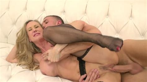 Gorgeous Milf In Black Stockings Gets Her Cunt Fucked In