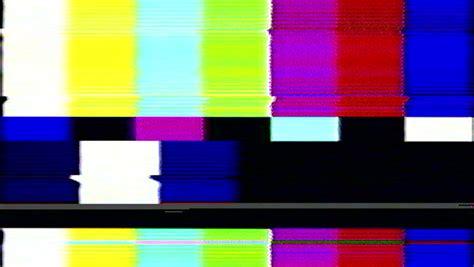 Television Color Bars Vhs Bad Signal Green Screen Stock