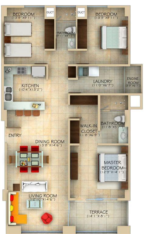denah rumah ukuran  home interior design top rumah