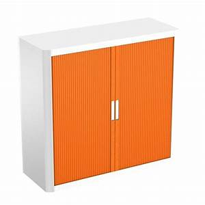 Armoire à Rideaux : armoire basse rideaux eco bicolore ~ Teatrodelosmanantiales.com Idées de Décoration