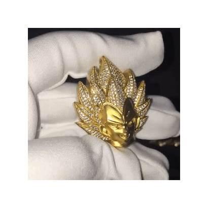 Vegeta Necklace Dragon Ball Gold Pendant Diamond