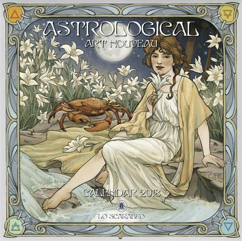 llewellyn worldwide astrological art nouveau calendar product