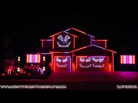 halloween light show  ghostbusters ray parker jr