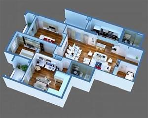 3D Model Luxury Detailed House Cutaway 3D Model MAX ...