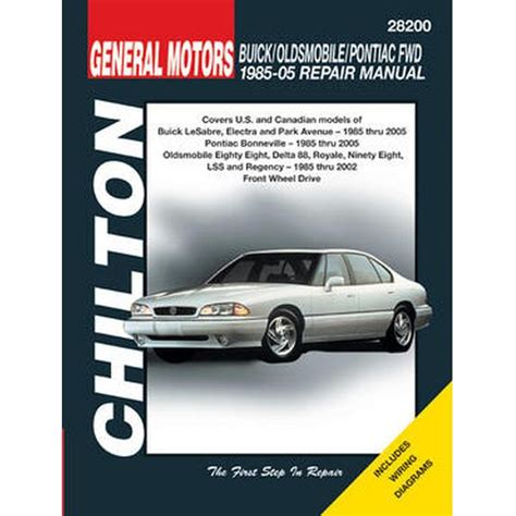 car repair manuals online free 1992 oldsmobile 88 head up display chilton repair manual gm bonneville eighty eight lesabre 1985 05 northern auto parts