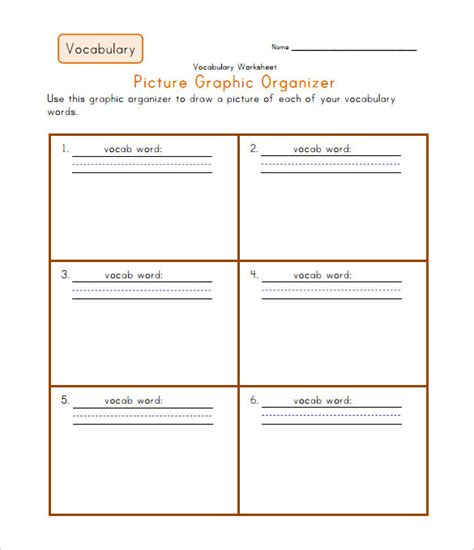 7 blank vocabulary worksheet templates word pdf free