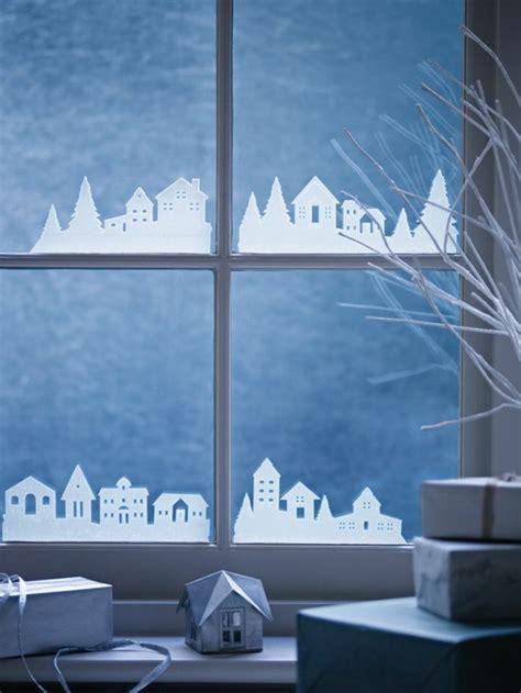 Fensterdeko Weihnachten Häuser by Kreative Ideen F 252 R Eine Festliche Fensterdeko Zu Weihnachten