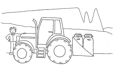 disegni da colorare  bambini trattore campagna disegni