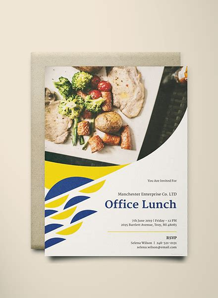 office lunch invitation template