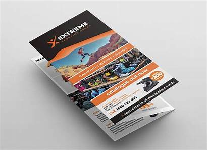 Brochure Tri Fold Template Outlet Sports Vector
