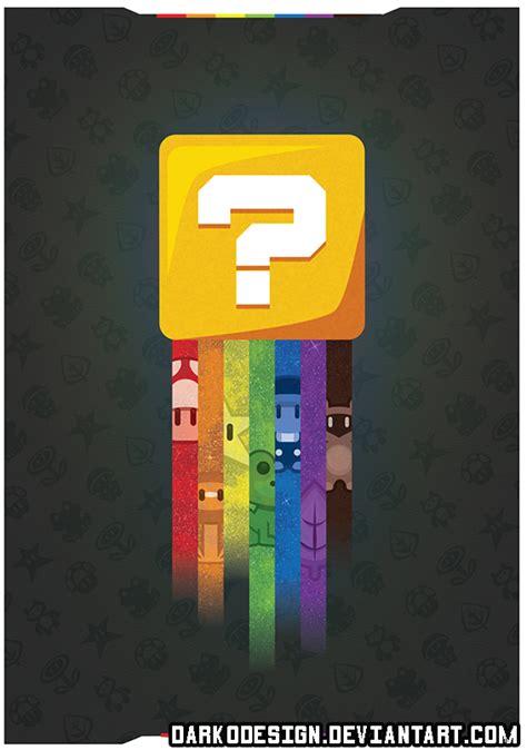 super mario bros 3 question block poster by darkodesign