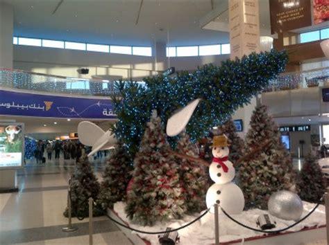 disturbing christmas decoration  beirut airport blog