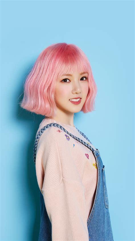 hn pink hair asian kpop girl wallpaper