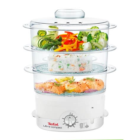 tefal ultra compact steam cuisine vc1006 food steamer 900w