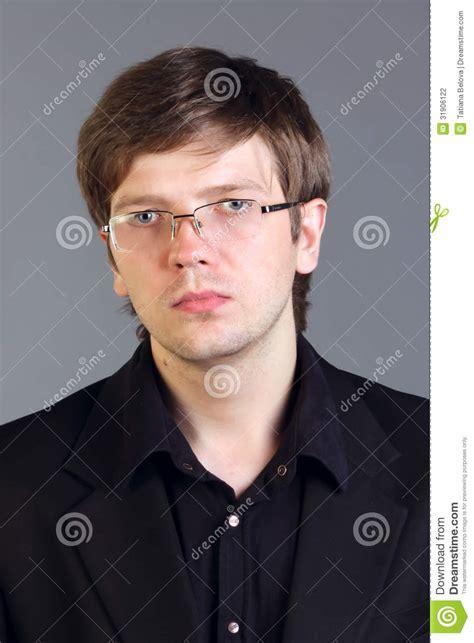 handsome intelligent man stock photography image
