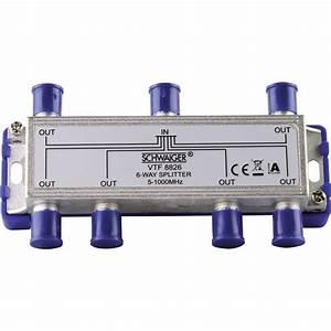 Kabel Tv Verteiler : kabel tv verteiler schwaiger vtf8826 6 fach 5 1000 mhz im conrad online shop 759671 ~ Orissabook.com Haus und Dekorationen